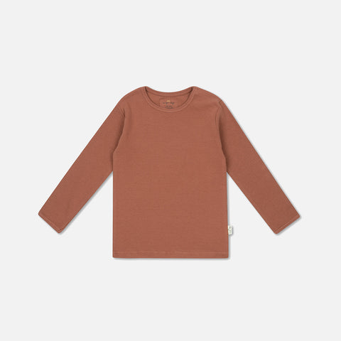 Organic Cotton Siff LS Top - Choco Bean