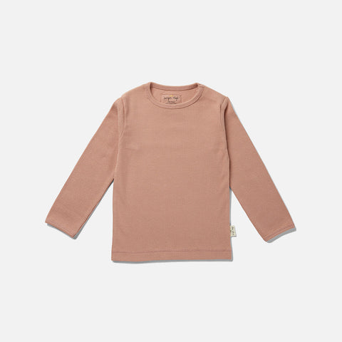 Organic Cotton Siff LS Top - Rose Blush