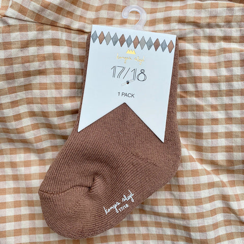 Organic Cotton Terry Socks - Almond