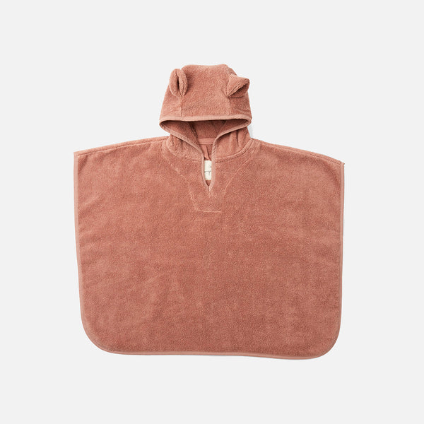 Organic Cotton Terry Kid's Poncho - Sienna