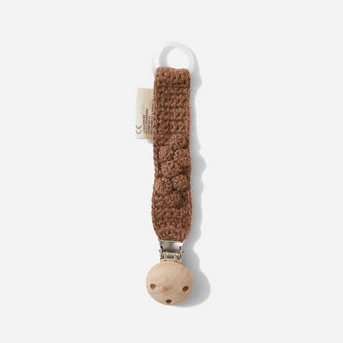 Organic Wool Toma Pacifier Strap - Almond