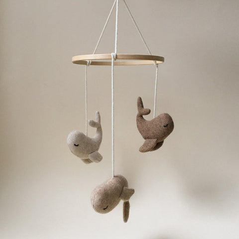 Organic Cotton Whale Mobile