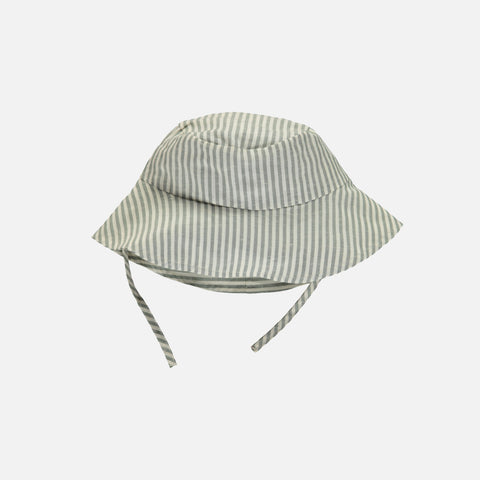 Organic Cotton/Linen Sun Hat - Lagoon Stripe
