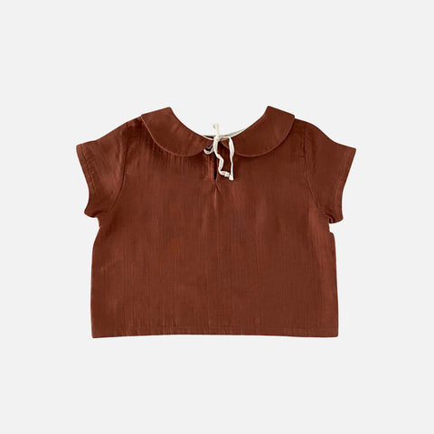 Organic Cotton Lara SS Shirt - Toffee