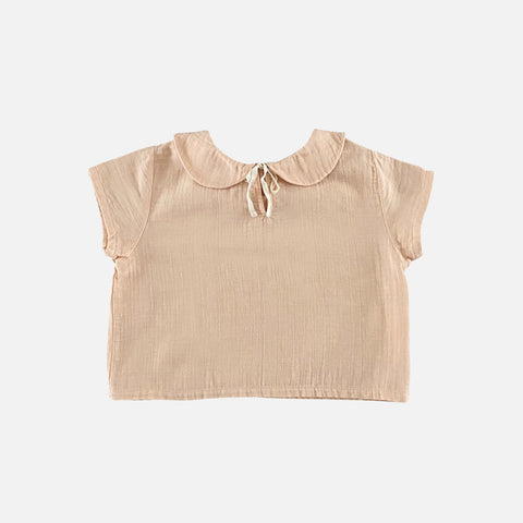 Organic Cotton Lara SS Shirt - Nude