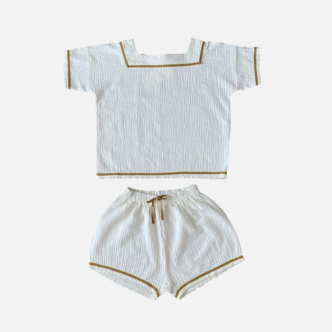 Organic Cotton Pepijn Pyjama - Milk