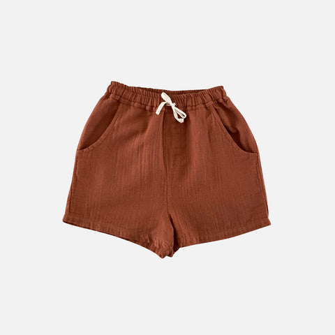 Organic Cotton Tudor Shorts - Toffee