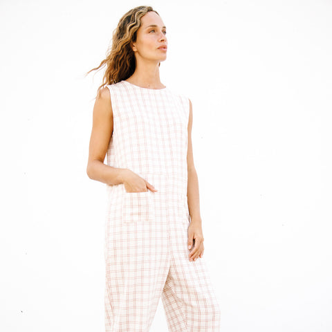 Women's Organic Cotton Sota Overall - Rustic Check