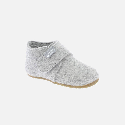 Wool Slipper Shoe - Light Grey
