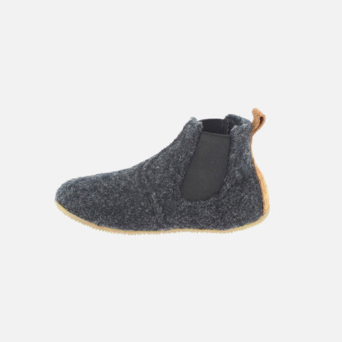 Wool Chelsea Slippers - Anthracite
