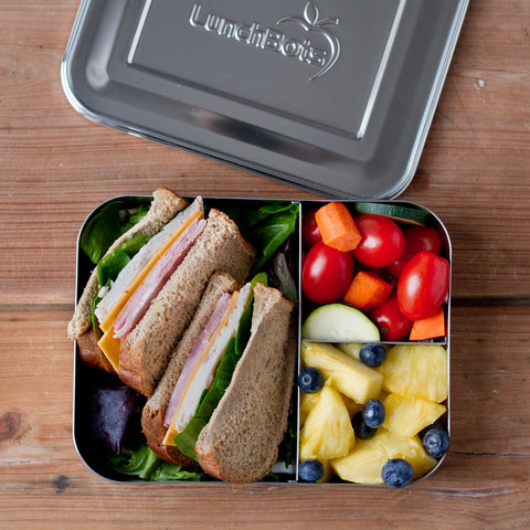 Stainless Steel Large Trio Bento Lunch Box