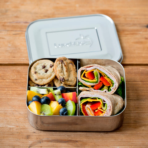Stainless Steel Medium Trio Bento Lunch Box