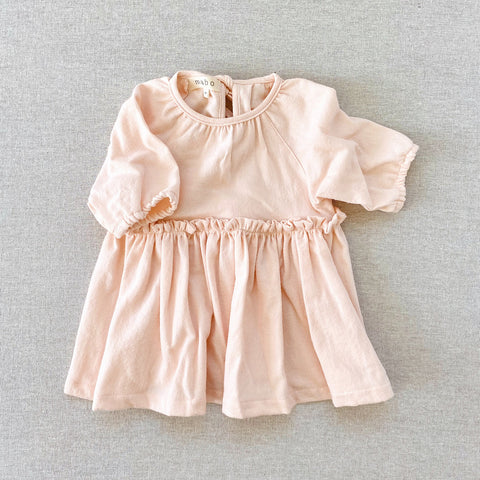 Cotton Flannel Georgie Dress - Blush