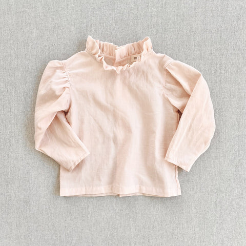 Cotton Voile Loulou Blouse - Blush