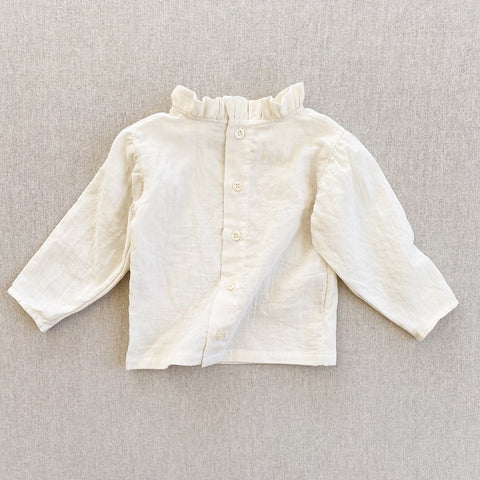 Cotton Gauze Loulou Blouse - Cream