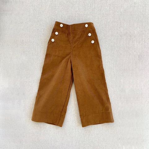 Cotton Corduroy Remy Trousers - Gold