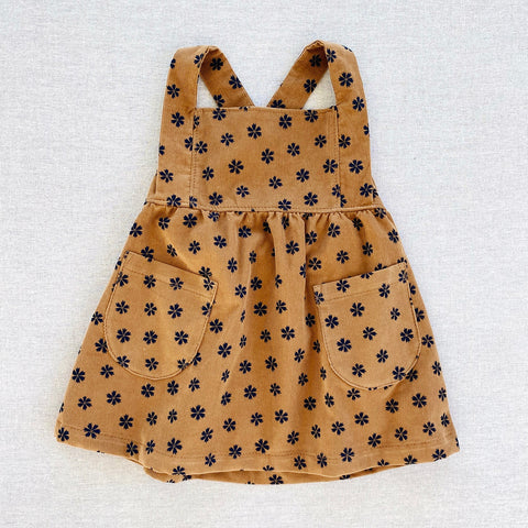 Cotton Corduroy Annie Pinafore - Gold Saku Floral