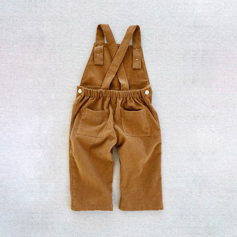 Cotton Corduroy Frankie overalls - Gold