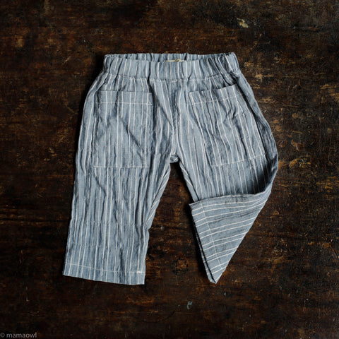 Cotton James Pants - Chambray/Cream Stripe