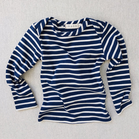 Organic Cotton LS Tee - Blue/Natural Stripe
