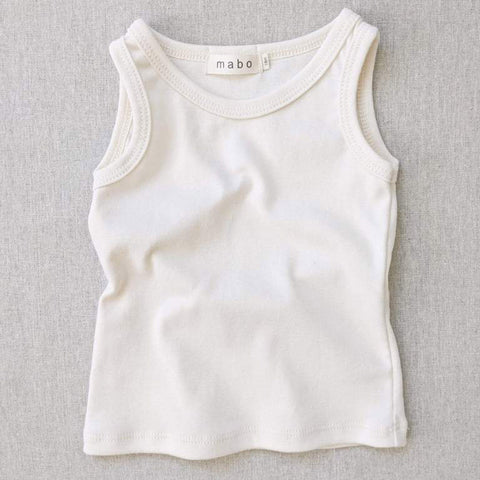 Organic Cotton Tank Top - Natural