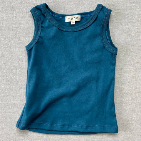 Organic Cotton Tank Top - Azure