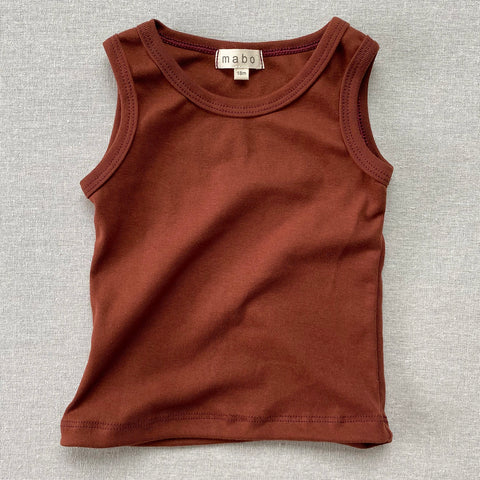 Organic Cotton Tank Top - Chestnut