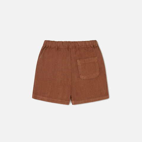 Linen Arkie Shorts - Sienna