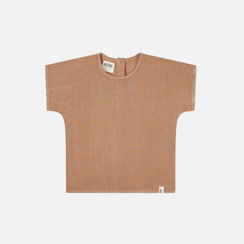 Linen Arlo T-shirt - Tan