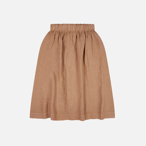 Women's Linen Elsa Skirt - Tan