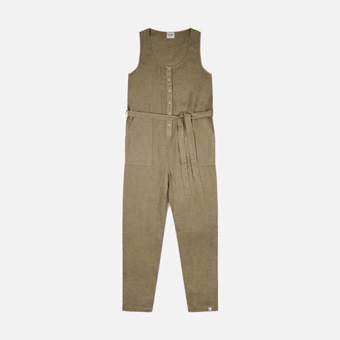 Women's Linen Frida Overall - Clay