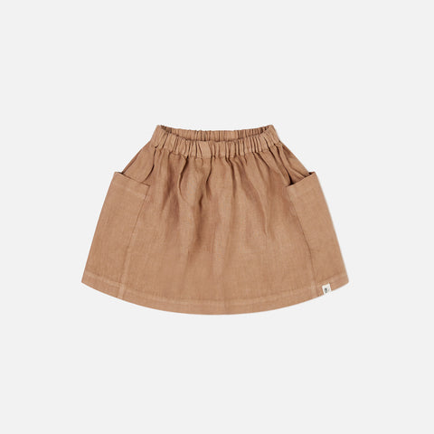 Linen Gaia Skirt - Tan