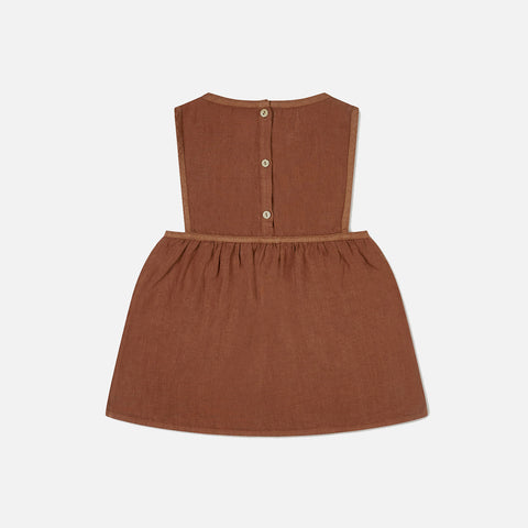 Linen Nora Pinafore Dress - Sienna