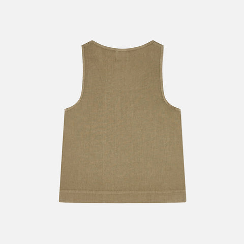 Women's Linen Rosa Tank Top - Clay