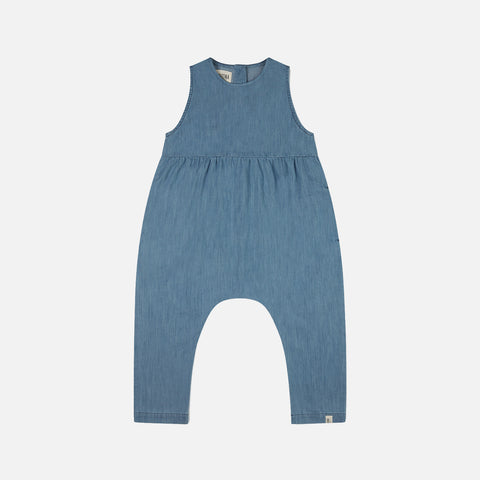 Organic Cotton Rye Jumpsuit - Denim
