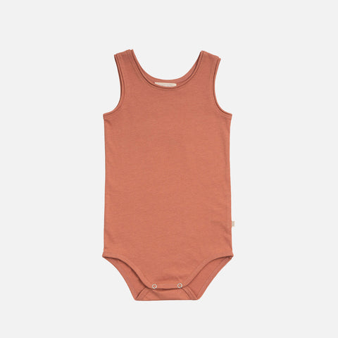 Organic Cotton Sleeveless Napoli Body - Tan