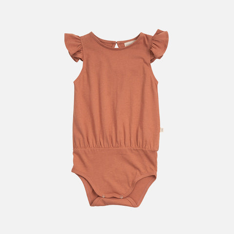 Organic Cotton Pippi Romper - Tan