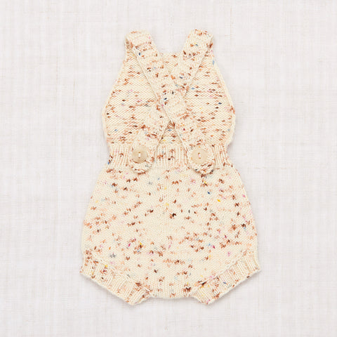 Hand Knit Merino Wool/Cashmere Layette Sugar Maple Sunsuit - Confetti