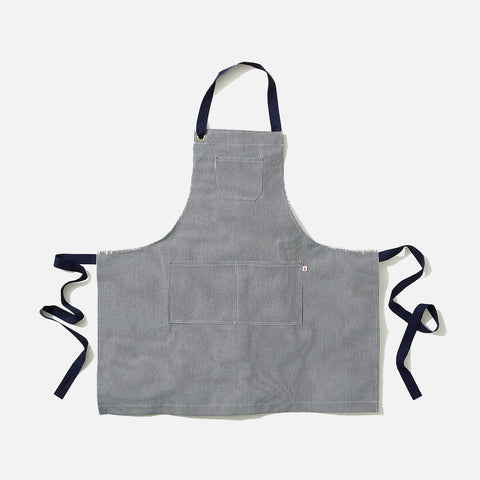 Adult's Cotton Maker Apron - Indigo Stripe
