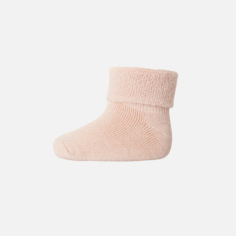 Wool Terry Ankle Socks - Light Rose