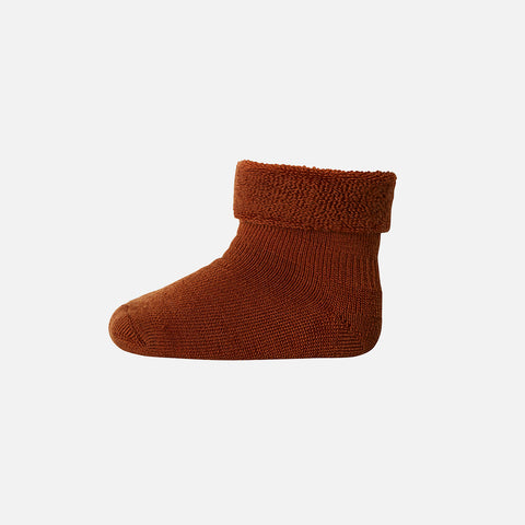 Wool Terry Ankle Socks - Sienna