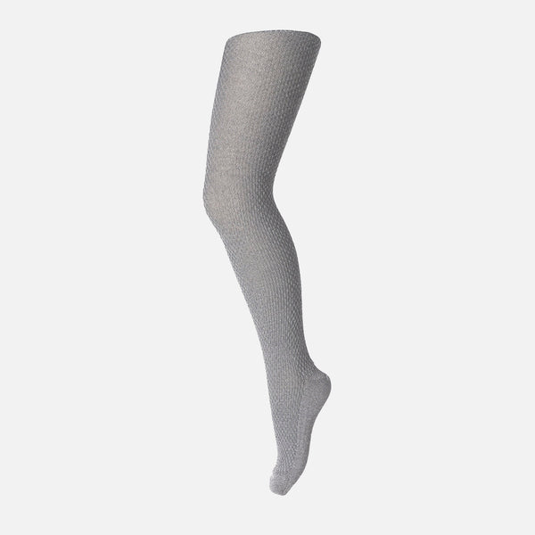 Wool Capsule Tights - Grey Melange