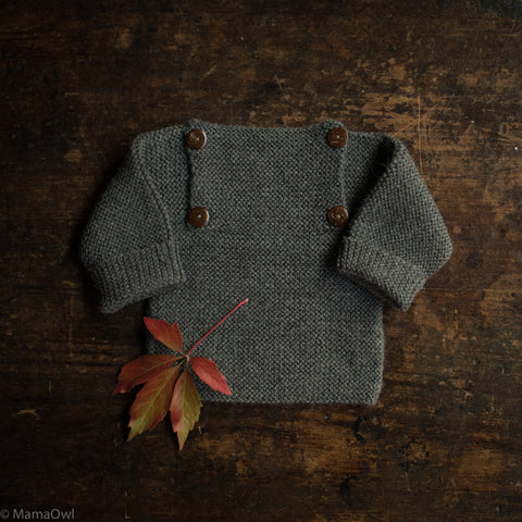 Exclusive Hand Knitted Alpaca Sweater - Slate