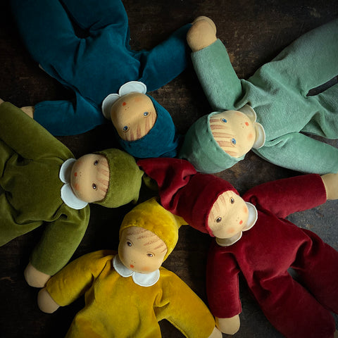 Organic Cotton/Wool Nanis Soft Dolls - Many Colours