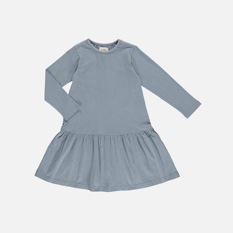 Organic Cotton Amy Dress - Aqua
