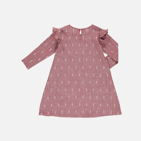 Organic Cotton Ella Dress - Terracotta Ikat