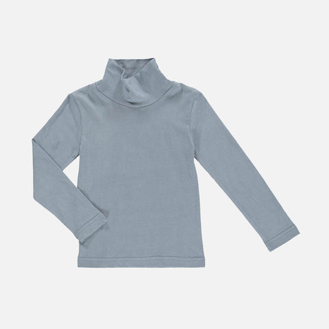 Organic Cotton Lenny Turtleneck - Aqua