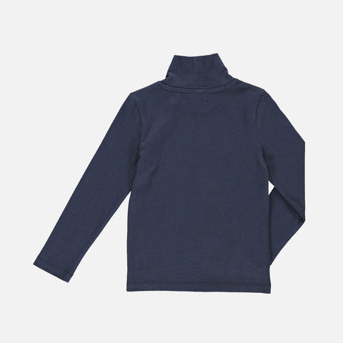 Organic Cotton Lenny Turtleneck - Midnight