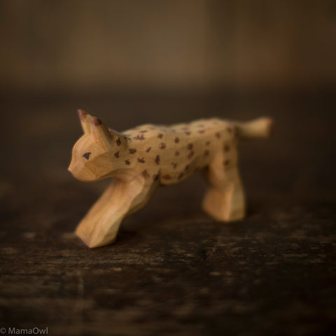 Hand Crafted Wooden Lynx