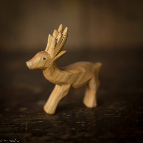 Hand Crafted Wooden Roebuck
